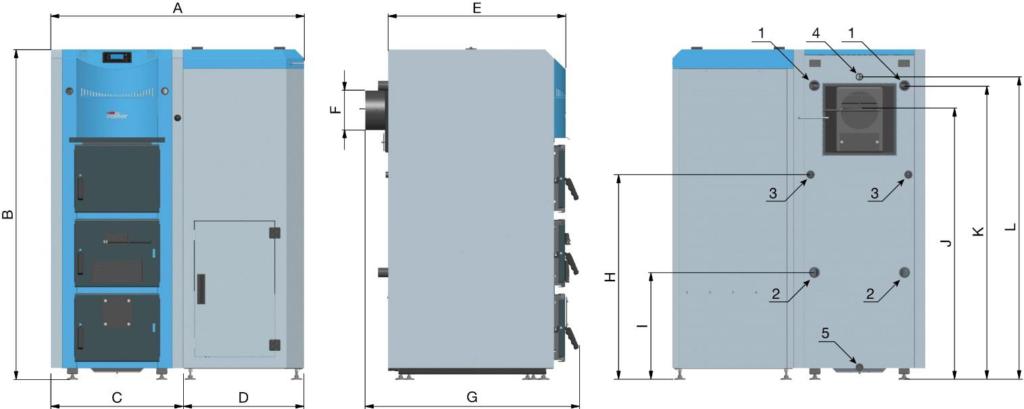 Scheda Tecnica Caldaia Combinata legna pellet DKP Valher