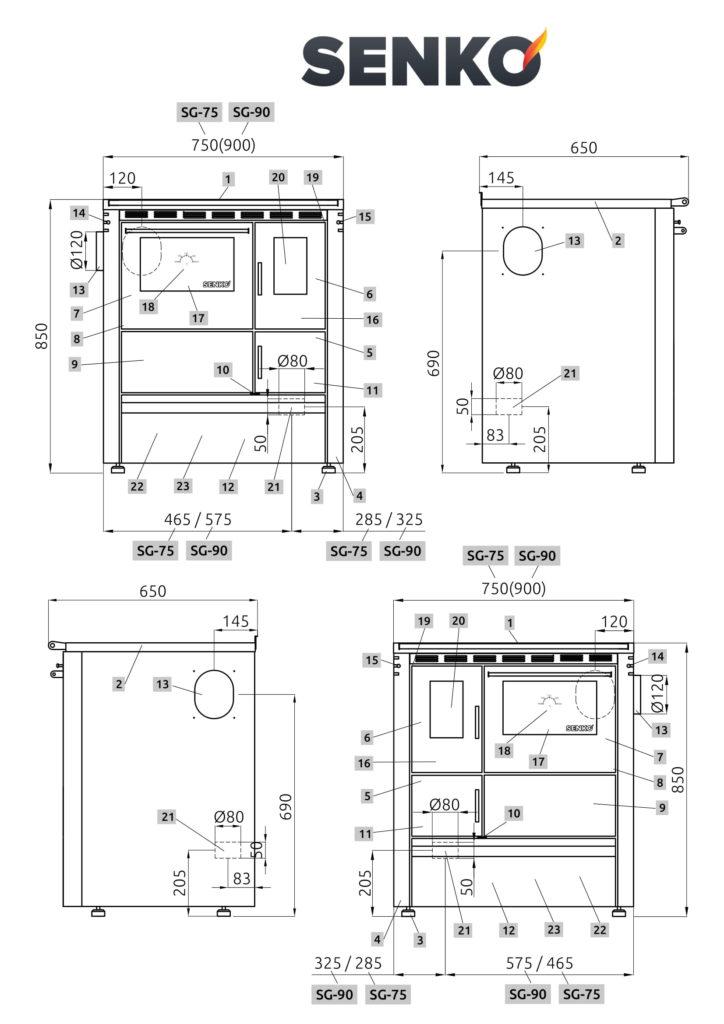 SENKO SG-75-90 scheda tecnica